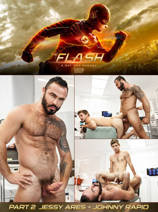 SuperGayHero The Flash – A Gay XXX Parody, Part 3 Jessy Ares fucks Johnny Rapid Men.com