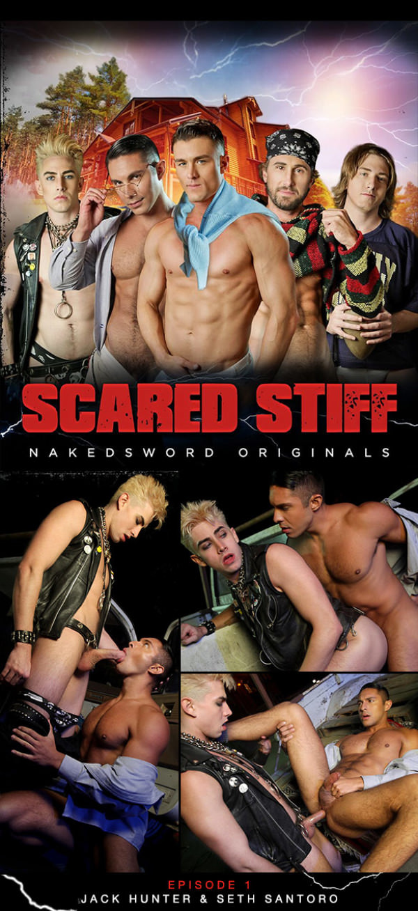 NakedSword Scared Stiff: Episode 1 Night Time Truck Fuck Jack Hunter and Seth Santoro flip fuck
