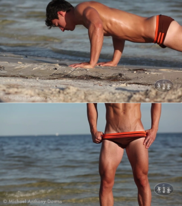 AllAmericanGuys Joe C Beach Footage part 3