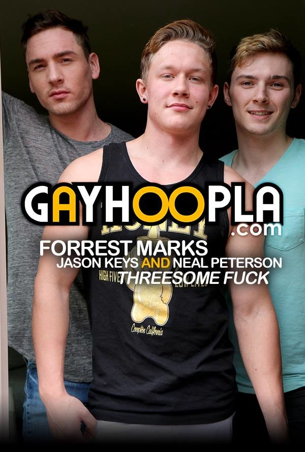 GayHoopla Forrest Marks, Jason Keys Neal Peterson Threesome FUCK