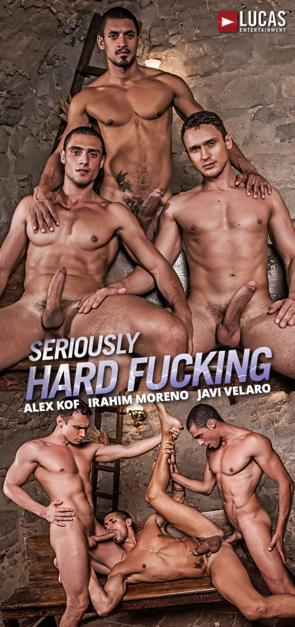 LucasEntertainment Seriously Hard Fucking Ibrahim Moreno, Alex Kof Javi Velaro's raw threeway