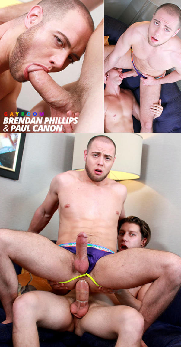Manroyale Ripped Muscle Hunks Brendan Phillips rides Paul Canon