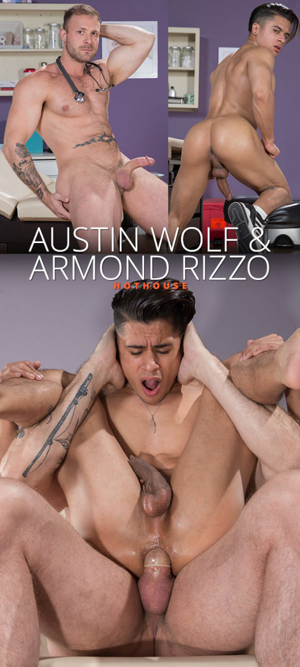 HotHouse Internal Specialists Austin Wolf stretches Armond Rizzo's hole