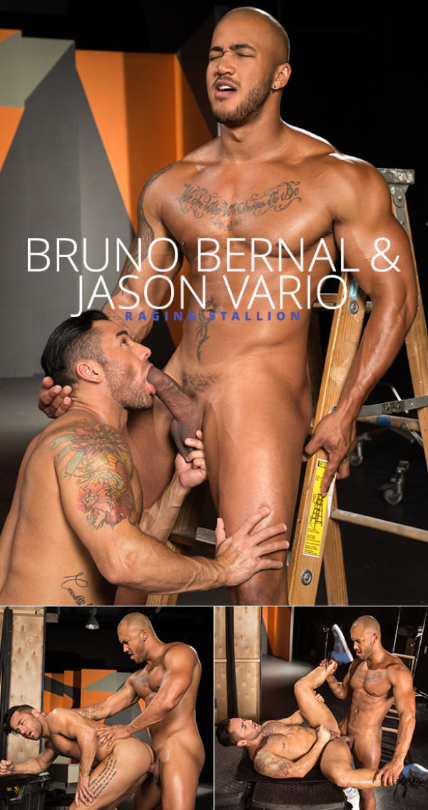 RagingStallion Backstage Pass 2 Jason Vario bangs Bruno Bernal