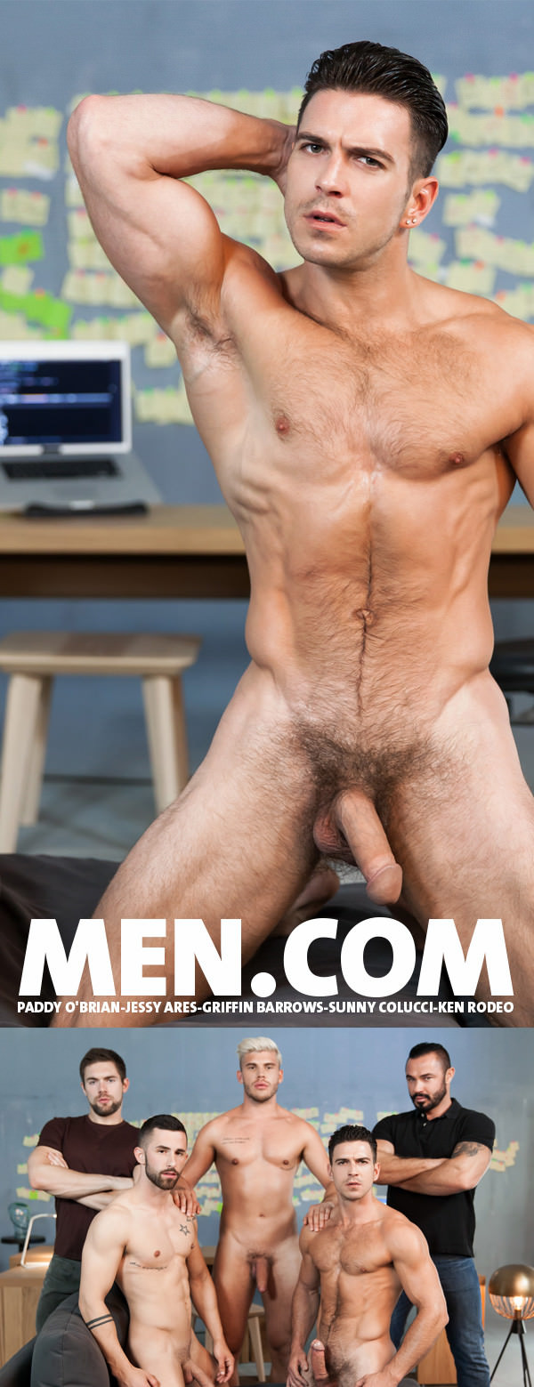 SuperGayHero Ex-Machina Part 5 Paddy O'Brian ,Jessy Ares ,Griffin Barrows ,Sunny Colucci and Ken Rodeo Men.com