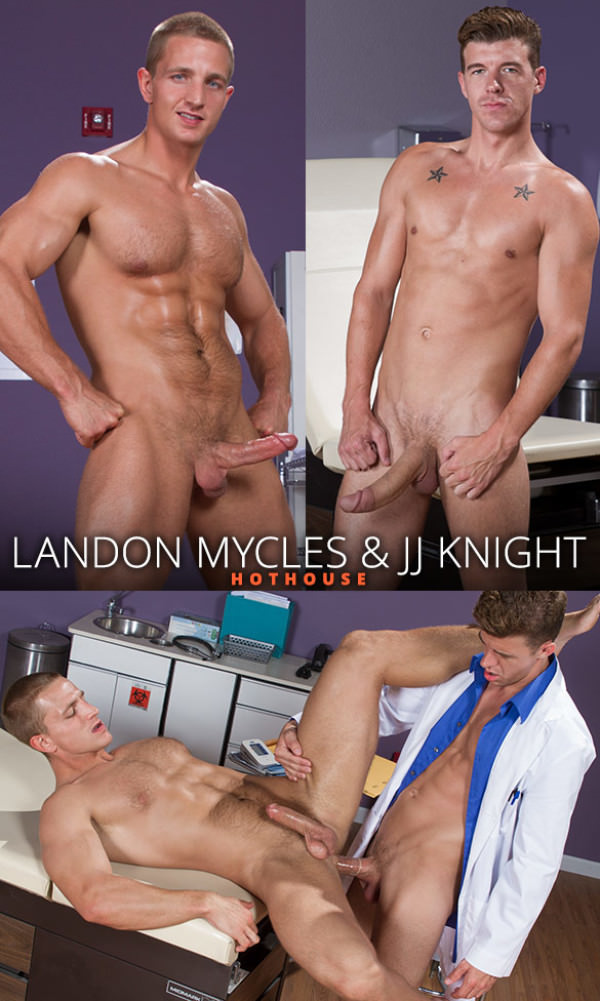 HotHouse Internal Specialists Landon Mycles takes JJ Knight's enormous dick