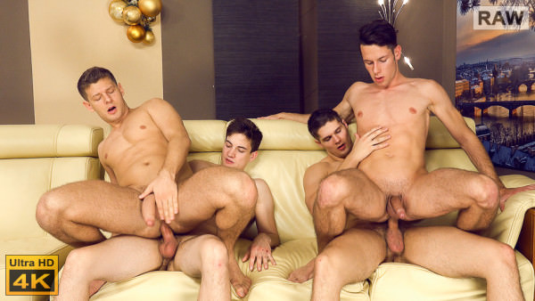 WilliamHiggins Xmas Wank Party 2016, Part 2 RAW WANK PARTY Adam Rezal, Kuba Neval, Rosta Benecky & Tomas Fuk
