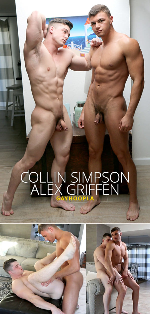GayHoopla Collin Simpson and Alex Griffen flip fuck