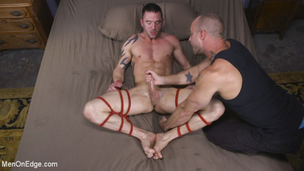 MenOnEdge Muscular Straight Boy Edged in Bondage! Jason Styles