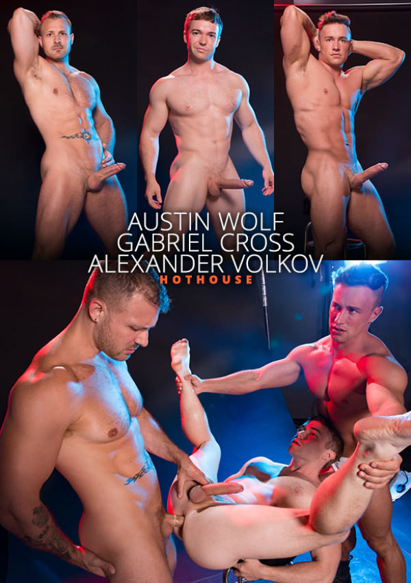 HotHouse Depths of Focus - Austin Wolf, Gabriel Cross and Alexander Volkov's hot threesome