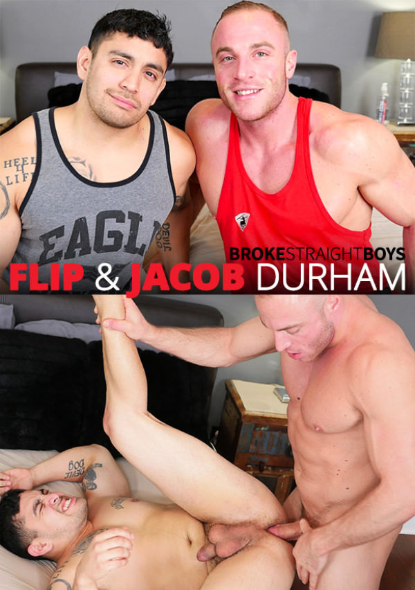 BrokeStraightBoys Flip gets fucked raw by muscle stud Jacob Durham