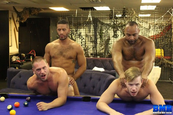 BreedMeRaw Ray Diesel, Hans Berlin, Trey Turner Brian Bonds Bareback