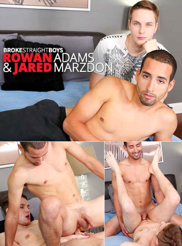 BrokeStraightBoys Rowan Adams and Jared Marzdon flip fuck bareback