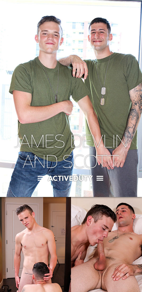 ActiveDuty Scott Fucks James Devlin Bareback