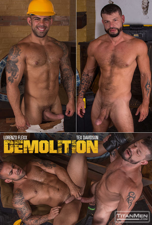 TitanMen Demolition Lorenzo Flexx takes Tex Davidson's huge cock