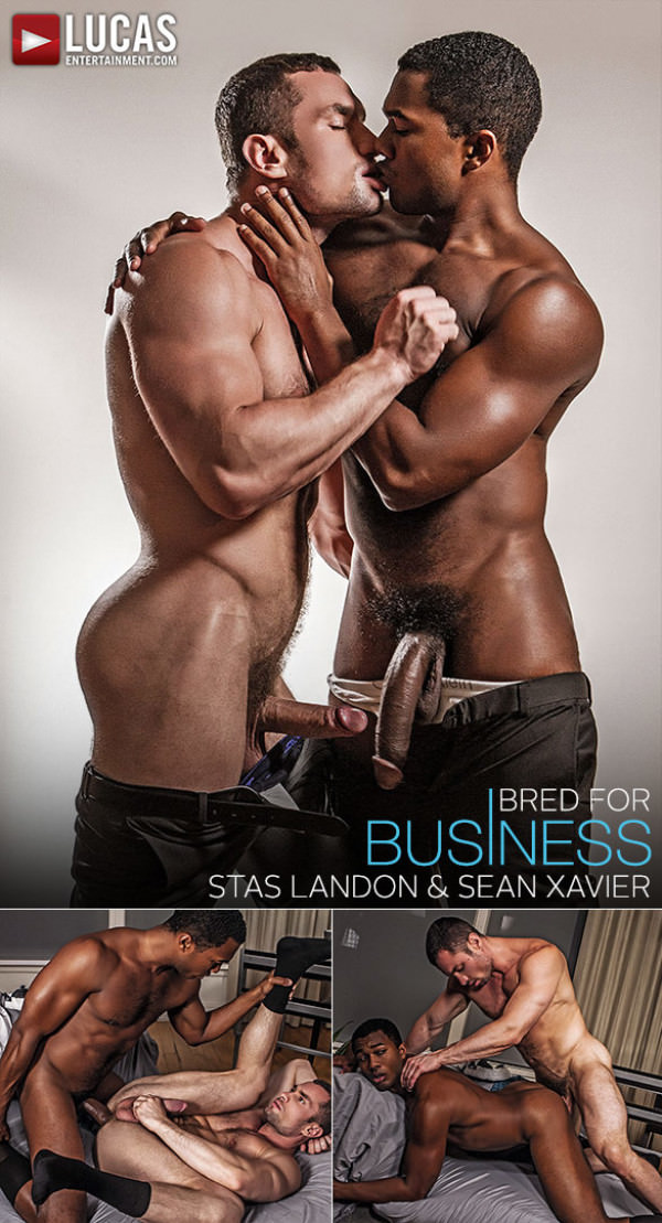 Lucas Entertainment Gentlemen 18: Bred for Business Stas Landon and Sean Xavier flip fuck raw