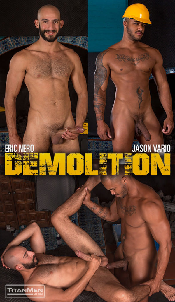 TitanMen Demolition Eric Nero bottoms for Jason Vario and his thick cock
