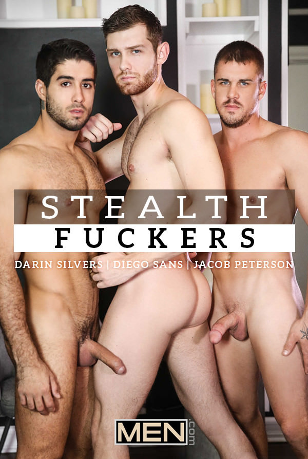 DrillMyHole Stealth Fuckers Part 13 Diego Sans, Darin Silvers and Jacob Peterson Men.com