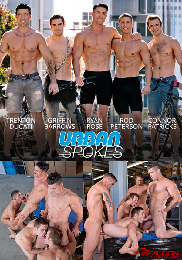FalconStudios Urban Spokes Trenton Ducati, Connor Patricks, Ryan Rose, Rod Peterson and Griffin Barrows' hot orgy