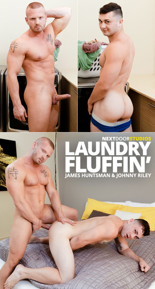 NextDoorBuddies Laundry Fluffin James Huntsman fucks Johnny Riley