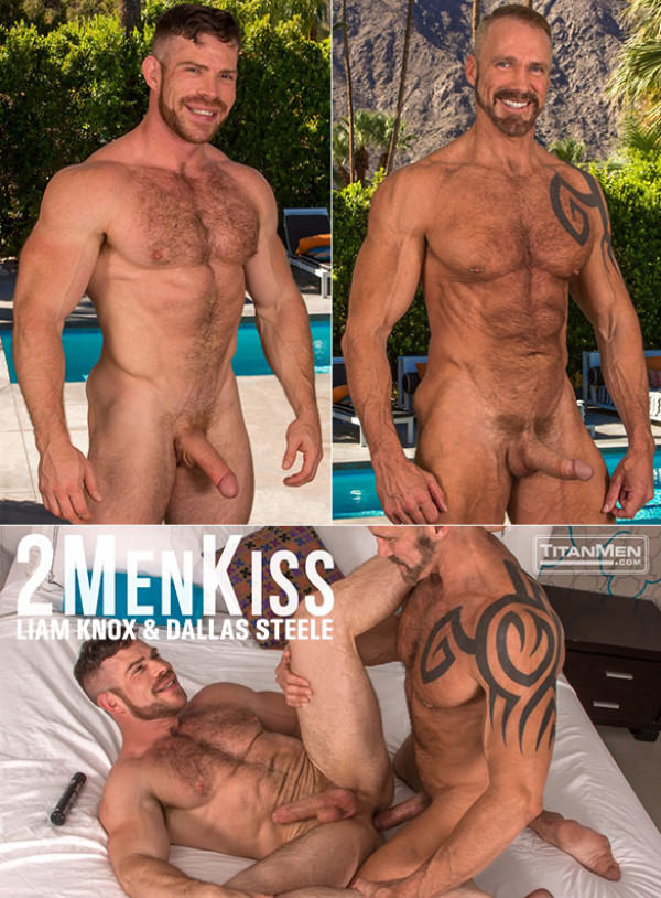 TitanMen 2 Men Kiss Dallas Steele and newcomer Liam Knox bang each other