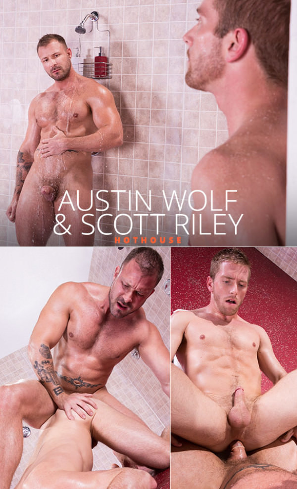 HotHouse Bathhouse Ballers Austin Wolf dominates Scott Riley's ass