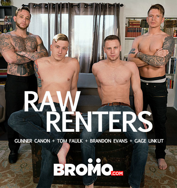 Bromo Raw Renters Gunner Canon, Gage Unkut, Tom Faulk and Brandon Evans Bareback