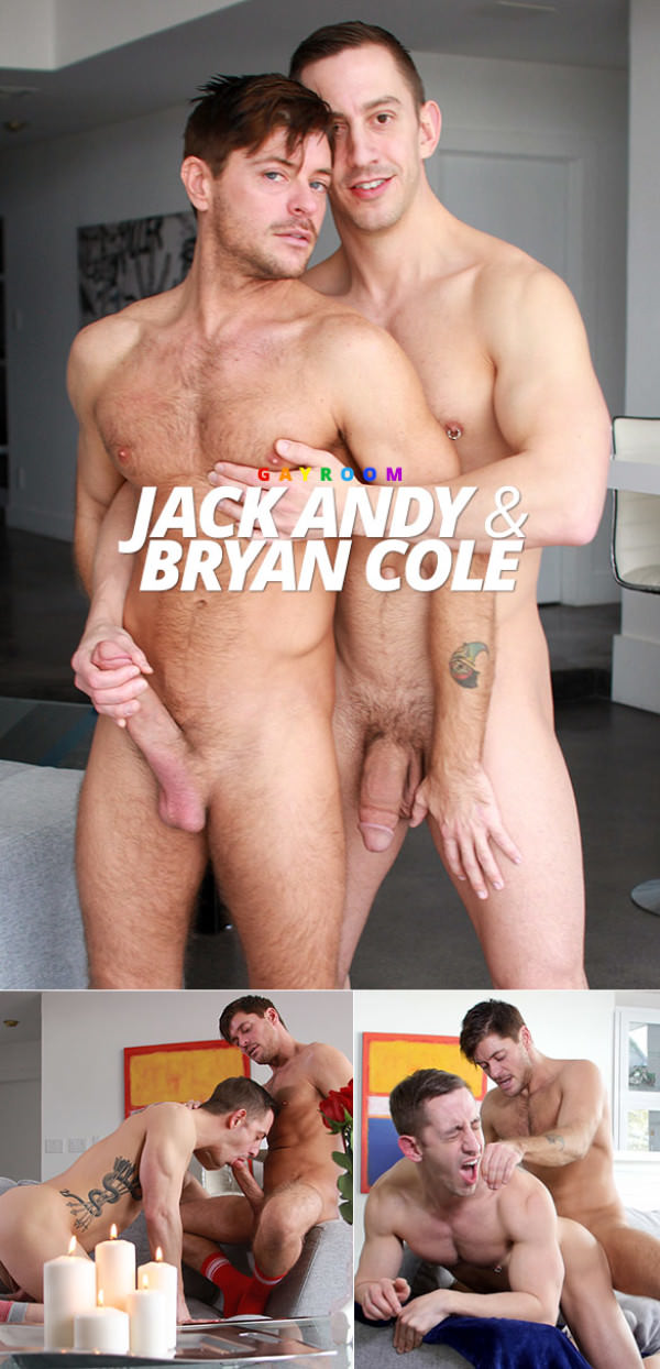 Manroyale Strawberries with a Kiss - Bryan Cole rides Jack Andy's thick dick