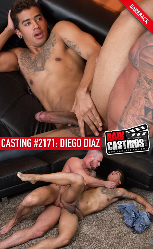 RawCastings Casting #2171: Diego Diaz with Michael Roman bareback