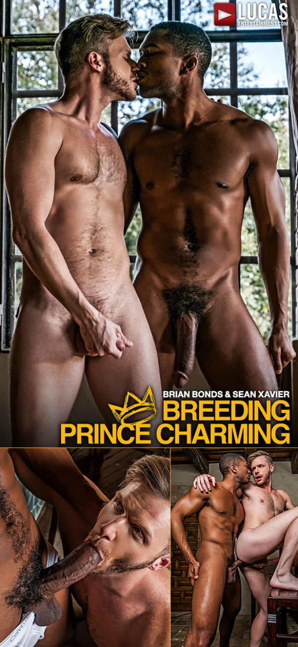 LucasEntertainment Breeding Prince Charming Brian Bonds takes Sean Xavier's massive cock raw