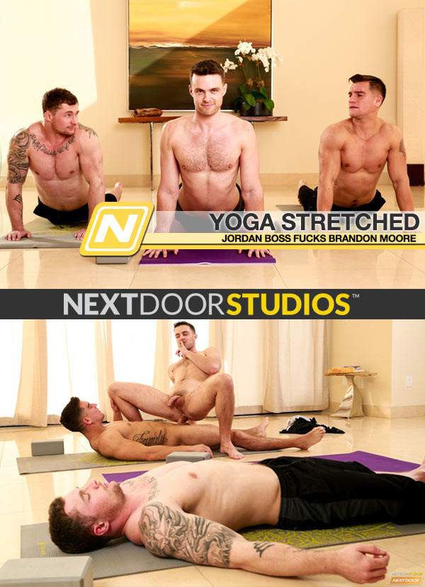 NextDoorStudios Yoga Stretched Jordan Boss Fucks Brandon Moore