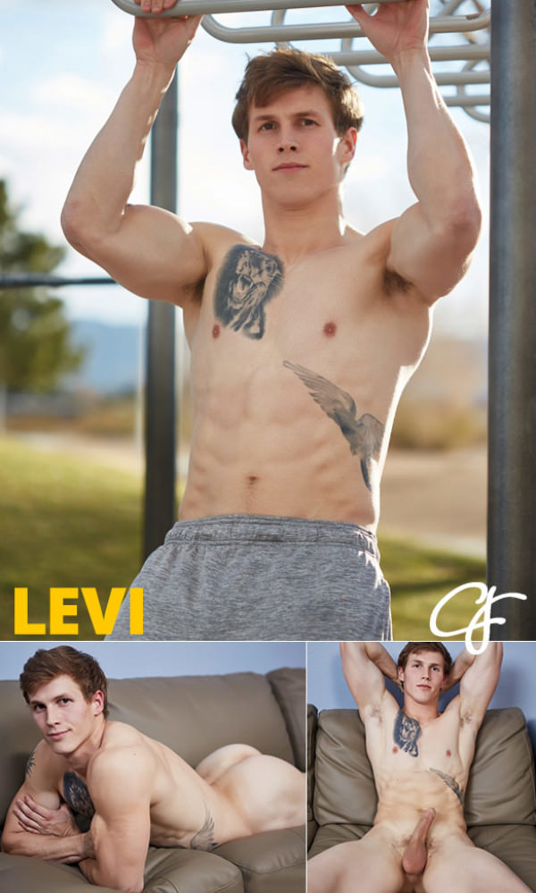 CorbinFisher Levi rubs one out Solo