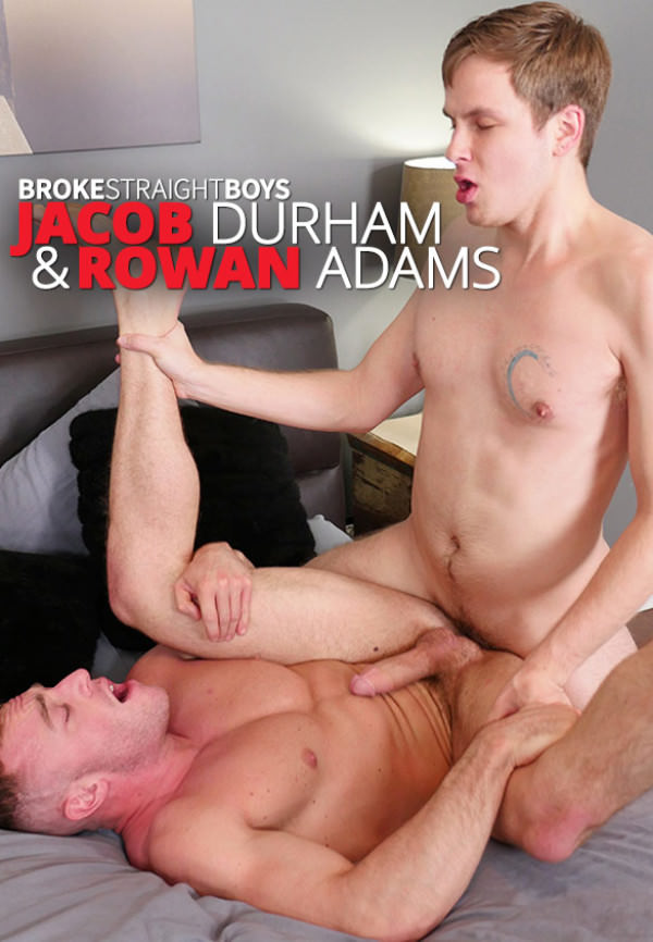 BrokeStraightBoys Rowan Adams creams Jacob Durham's muscle ass