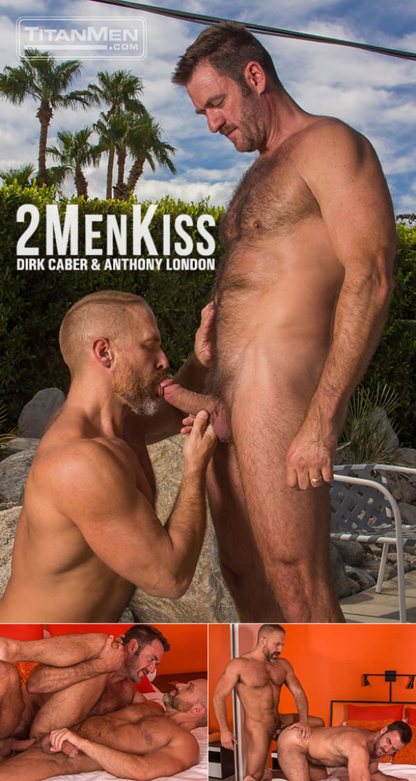 TitanMen 2 Men Kiss Muscle daddies Dirk Caber and Anthony London flip fuck