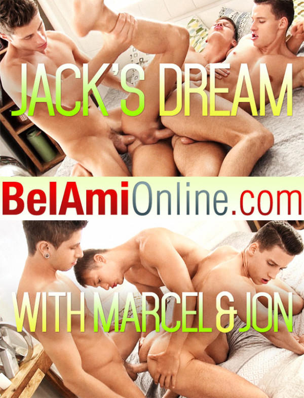 BelAmiOnline Jack Harrer, Marcel Gassion and Jon Kael's hot bareback threesome