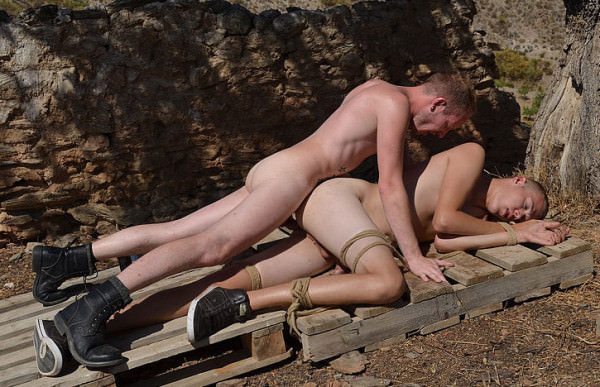 BoyNapped Bottom Boy Pumped With Cock