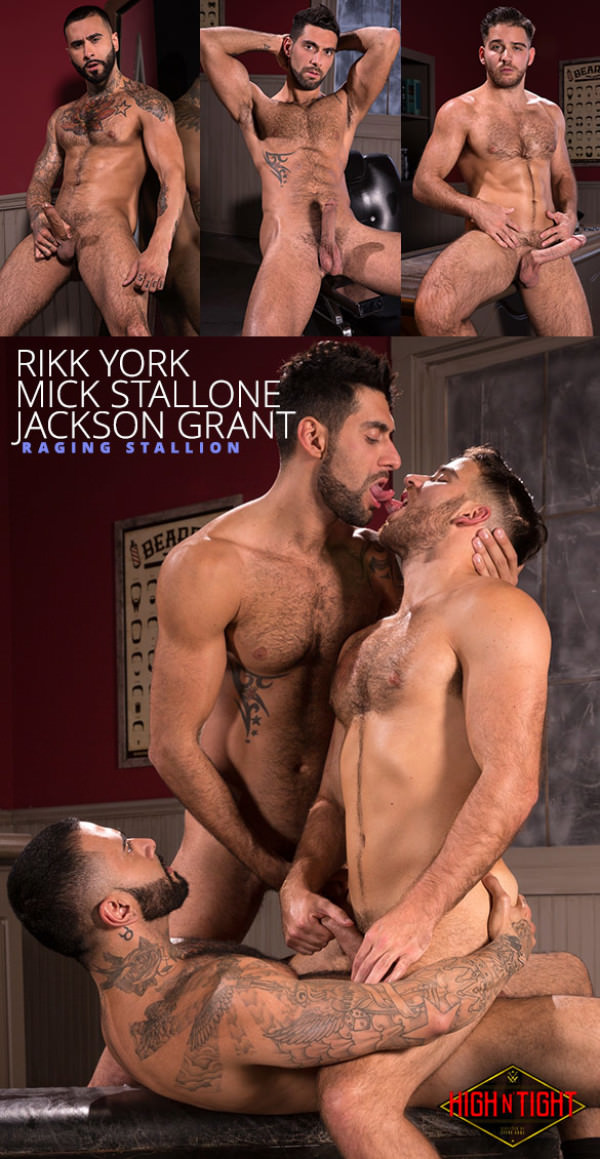 RagingStallion High n' Tight Rikk York Mick Stallone Jackson Grant's threeway