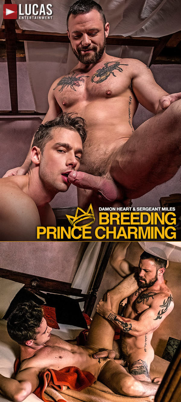 LucasEntertainment Breeding Prince Charming Sergeant Miles and Damon Heart fuck raw
