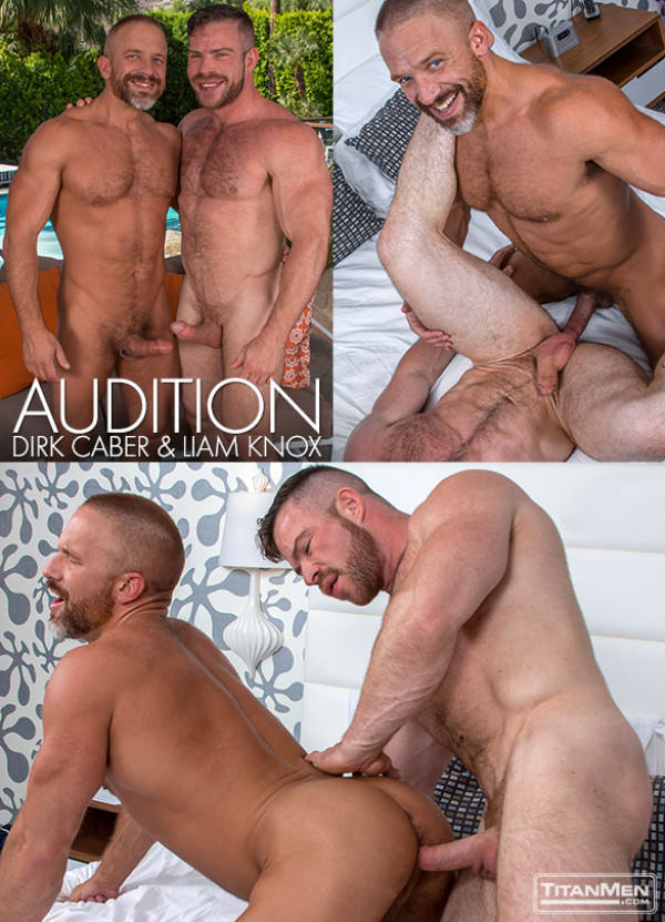 TitanMen Audition - Muscle hunks Liam Knox and Dirk Caber bang each other