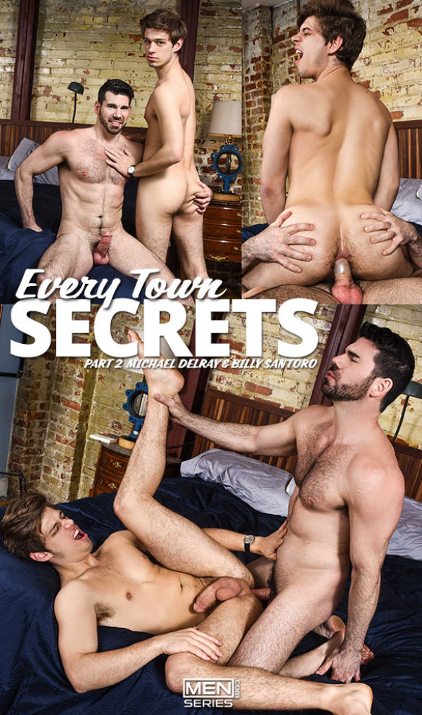 Str8toGay Every Town Secrets, Part 2 Michael DelRay rides Billy Santoro Men.com