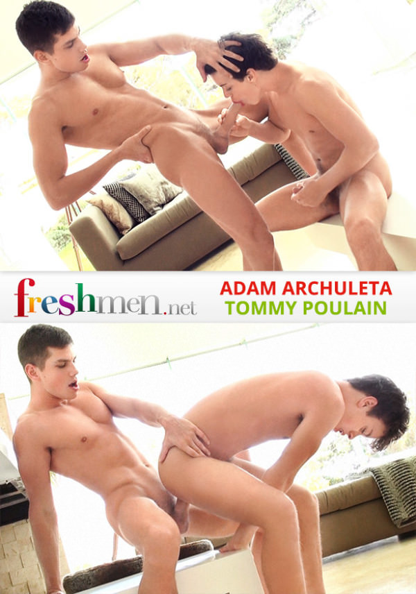 FreshMen Issue 21 Adam Archuleta barebacks Tommy Poulain