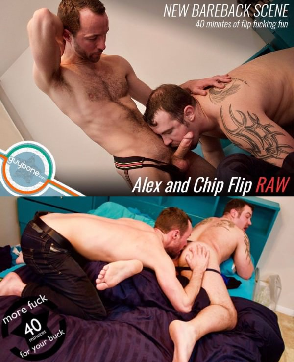 GuyBone Alex and Chip Flip Raw Alex Hawk Chip Young Bareback