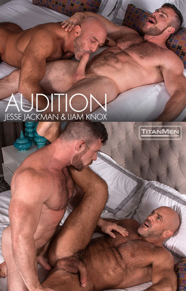 TitanMen Audition Liam Knox and Jesse Jackman flip fuck