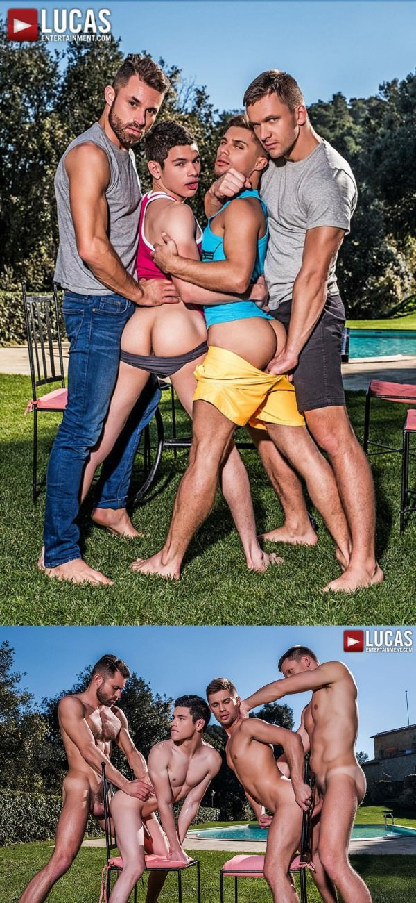 LucasEntertainment Klim Gromov and Ricky Verez Bottom for James Castle and Andrey Vic Bareback