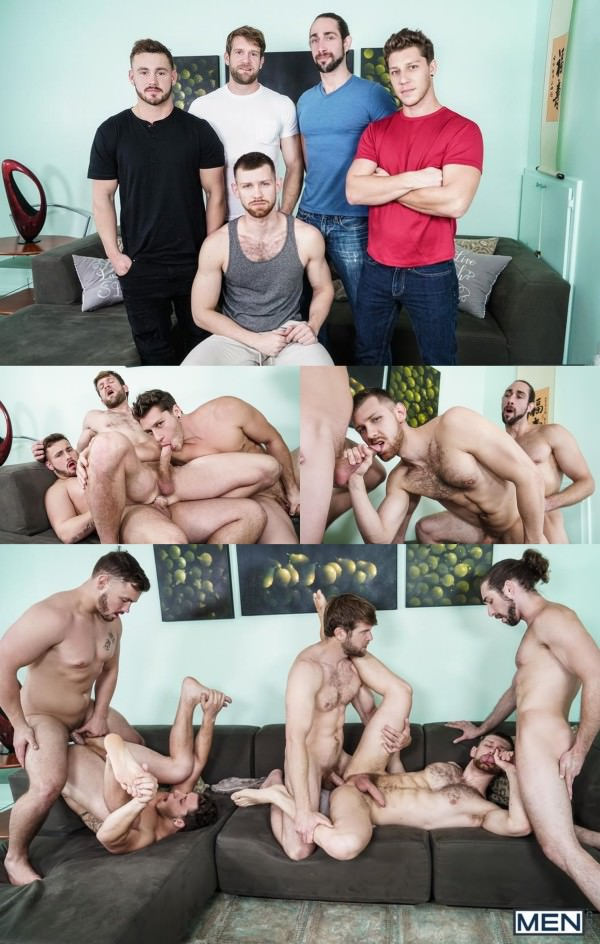 JizzOrgy My Whore Of A Roommate Trevor Long, Colby Keller, Paul Canon, Roman Todd Jacob Peterson