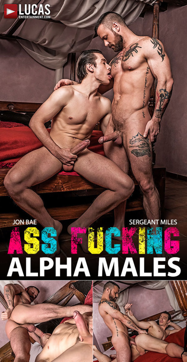 LucasEntertainment Ass-Fucking Alpha Males Sergeant Miles fucks Jon Bae hard and raw