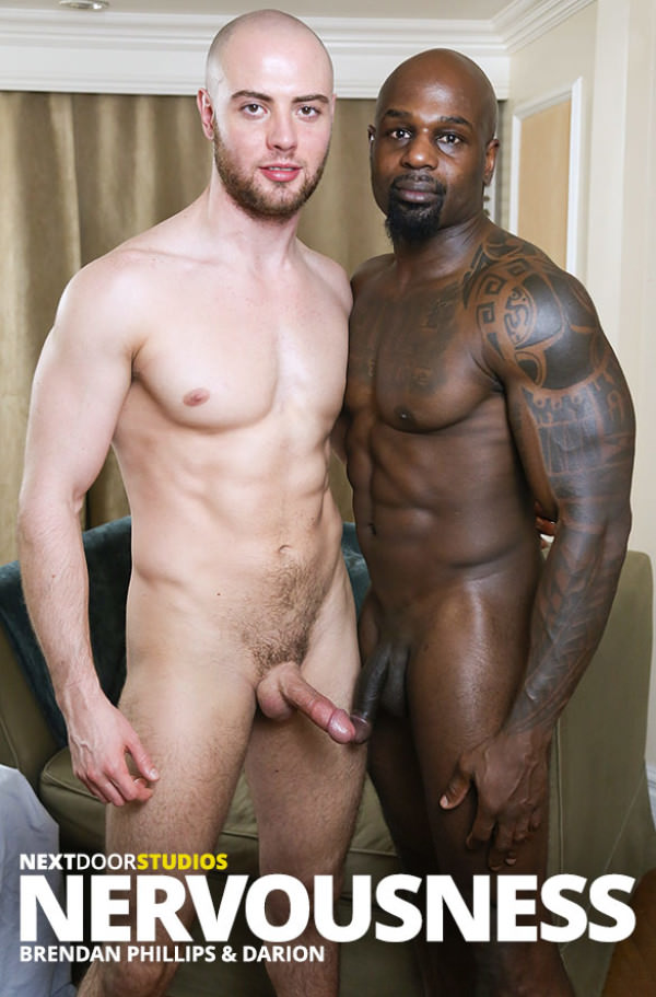 NextDoorEbony Nervousness Brendan Phillips bottoms for muscle stud Darion