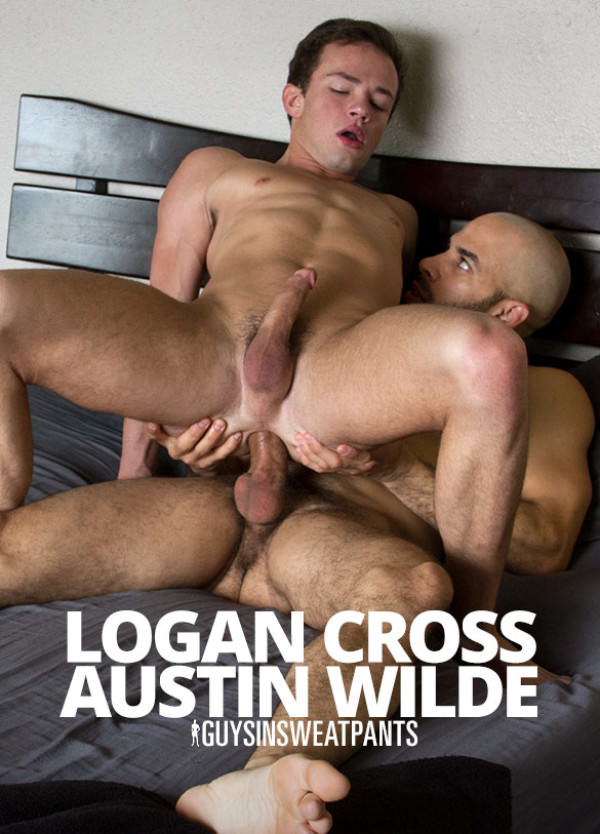 GuysInSweatpants Austin Wilde fucks Logan Cross hard and raw