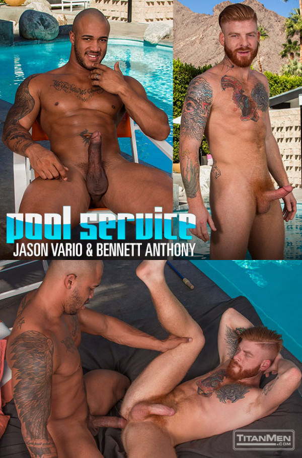 TitanMen Pool Service Jason Vario fucks Bennett Anthony