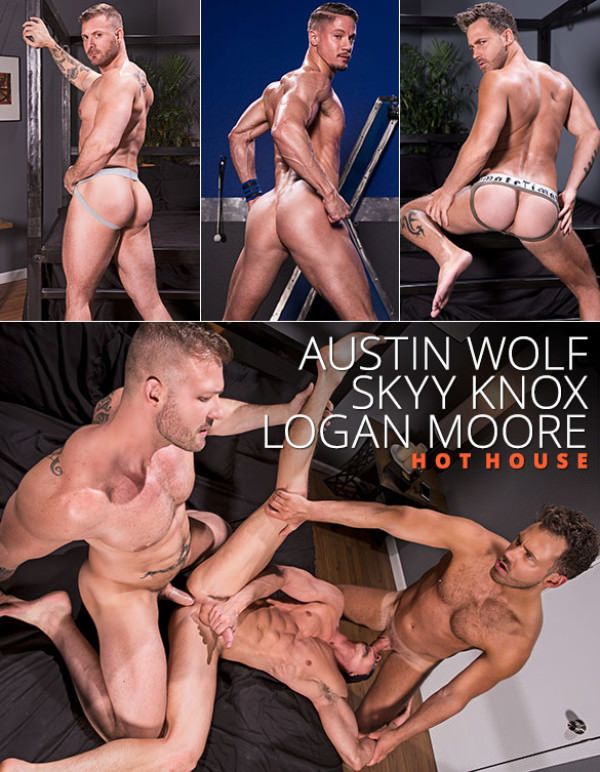 HotHouse Blindfolded Austin Wolf and Logan Moore tag team Skyy Knox